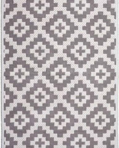 Béžový bavlněný koberec Vitaus Art, 80 x 200 cm