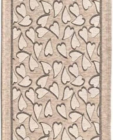 Béžový běhoun Floorita Corazo, 55 x 190 cm