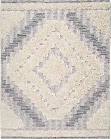 Bílo-šedý koberec Universal Cheroky Blanco, 55 x 110 cm