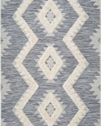 Bílo-šedý koberec Universal Cheroky Merto, 155 x 230 cm