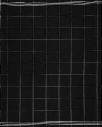 Černá kuchyňská utěrka z bavlny Södahl Geometric, 50x70cm