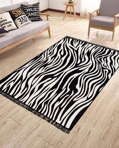 Oboustranný pratelný koberec Kate Louise Doube Sided Rug Zebra, 80 x 150 cm