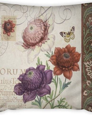 Povlak na polštář Vitaus Maseto Flowers Rusto, 43 x 43 cm