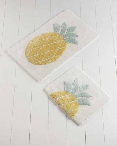 Sada 2 koupelnových předložek Ananas