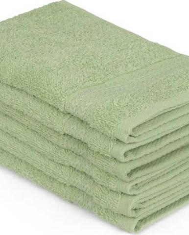 Sada 6 zelených bavlněných ručníků Madame Coco Lento Verde, 30 x 50 cm