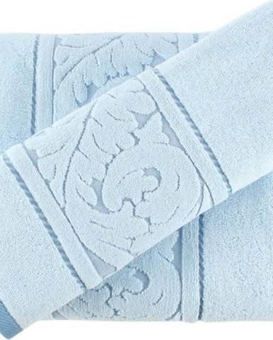 Sada modrého ručníku a osušky Sultan