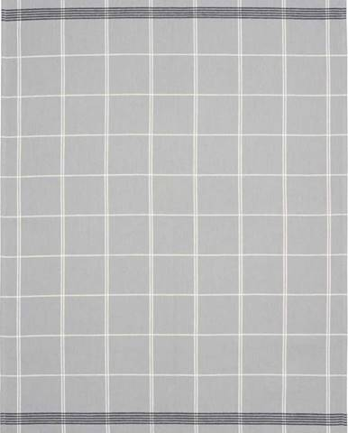 Šedá kuchyňská utěrka z bavlny Södahl Geometric, 50x70cm