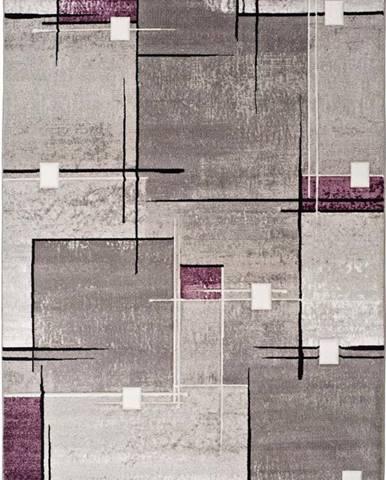 Šedo-fialový koberec Universal Detroit, 140x200cm