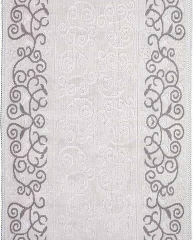 Šedobéžový bavlněný koberec Vitaus Orkide, 80x200cm