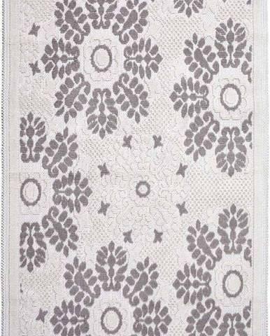 Šedobéžový bavlněný koberec Vitaus Papatya, 80x150cm