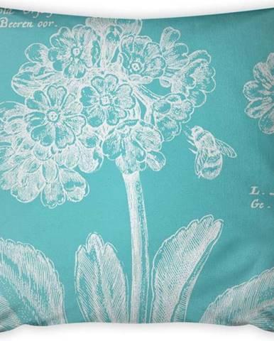 Tyrkysový povlak na polštář Vitaus Panento, 43 x 43 cm