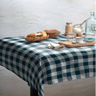 Ubrus Linen Couture Turquoise Vichy, 140 x 200 cm