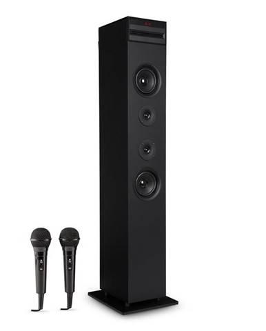 Auna Karaboom CD karaoke zařízení, bluetooth, MP3, USB nabíječka, mikrofon, dálkové ovládání, černá barva