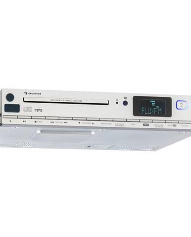 Auna KCD 20, stříbrné, spodně vestavné kuchyňské rádio s FM RDS, CD, USB, MP3