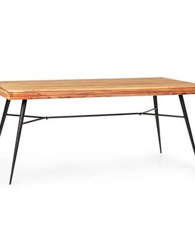 Besoa Vantor, jídelní stůl, akátové dřevo, železná kostra, 175 x 78 x 80 cm, dřevo