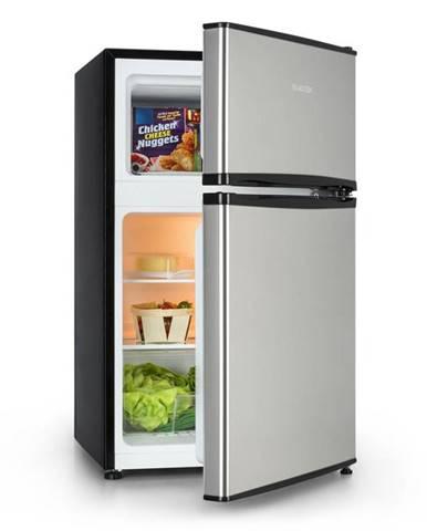 Klarstein Big Daddy Cool, chladnička s mrazákem, 65/25 litrů, ušlechtilá ocel, A +, stříbrná