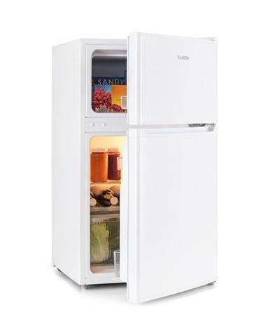 Klarstein Big Daddy Cool, lednice s mrazákem, 61/26 litrů, 42 dB, A +, bílá