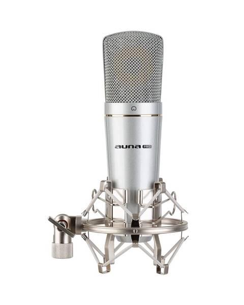 Auna Pro Auna Pro MIC-920 USB, kondenzátorový mikrofon, USB, výstup na sluchátka, plug & play, stříbrný