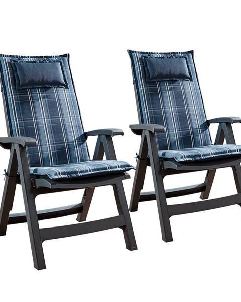 Blumfeldt Blumfeldt Donau, čalouněná podložka, podložka na židli, podložka na vyšší polohovací křeslo, na zahradní židli, polyester, 50 × 120 × 6 cm