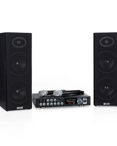 Auna Karaoke Star 4, karaoke sada, 2 x 80 W max., BT, USB port, 2 x bezdrátový mikrofon