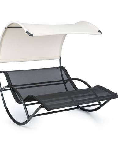 Blumfeldt The Big Easy, houpací lehátko, nepromokavé, 350 kg max., UV ochrana, černé