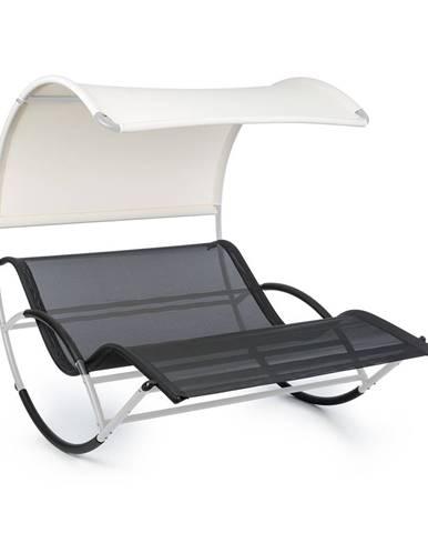 Blumfeldt The Big Easy, houpací lehátko, nepromokavé, 350 kg max., UV ochrana, stříbrné