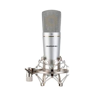 Auna Pro MIC-920 USB, kondenzátorový mikrofon, USB, výstup na sluchátka, plug & play, stříbrný