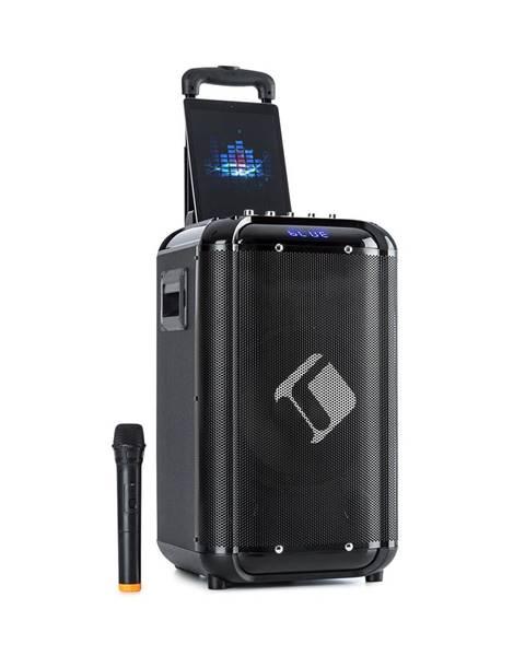 """Auna Auna Moving 100, PA systém, 10"""" woofer, 50/150 W, UHF mikrofon, USB, SD, BT, AUX, přenosný"""
