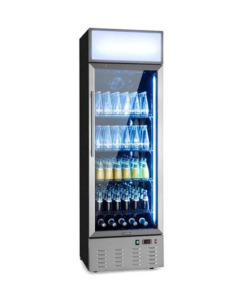 Klarstein Klarstein Berghain, chladnička na nápoje, 278 l, RGB vnitřní osvětlení, 210 W, 2-8°C, ušlechtilá ocel