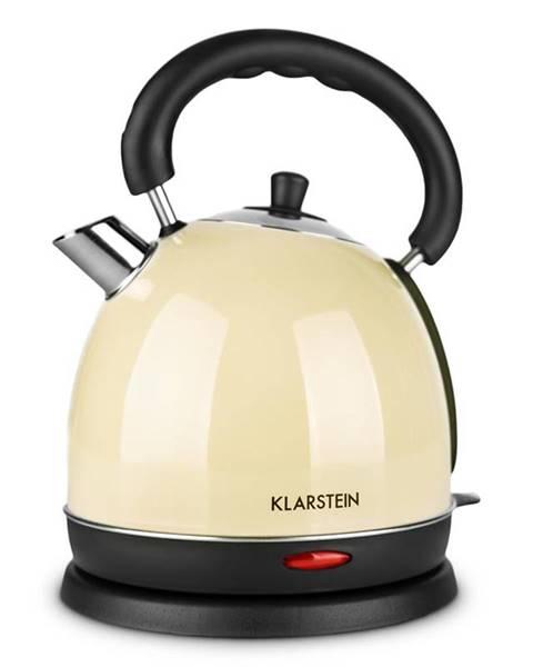 Klarstein Klarstein Tea Time, barva krémová, 1,8 l, 2200 W, rychlovarná konvice (čajník), ušlechtilá ocel