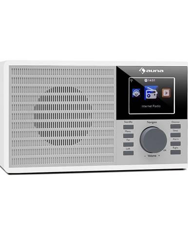 """Auna IR-160, internetové rádio, WiFi, USB, AUX, UPNP, 2.8"""" TFT, dálkové ovládání, bílé"""