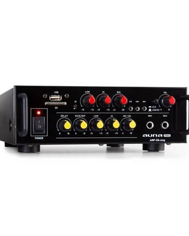 Auna Pro Amp EQ BT, HiFi karaoke zesilovač, 2 x 30 W RMS, BT, USB, SD, 2 x mikrofonní vstup