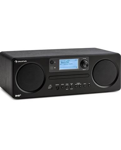 Auna Worldwide CD, internetové rádio, Spotify Connect, ovládání přes aplikaci, bluetooth, černé