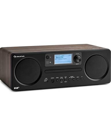 Auna Worldwide CD, internetové rádio, Spotify Connect, ovládání přes aplikaci, bluetooth, vlašský ořech