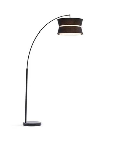 Besoa Amar, oblouková lampa, černé stínidlo, mramorový podstavec, E27, síťový kabel: 1,7 m, černá