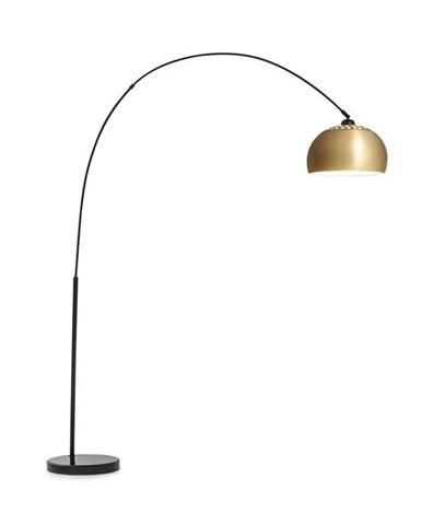Besoa Amara, oblouková lampa, pozlacené stínidlo, mramorový podstavec, E27, síťový kabel: 2 m, zlatá