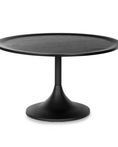 Besoa Big Visby, konferenční stolek, 70 x 41,5 cm (Ø x V), kov, multiplexová deska, dubová dýha