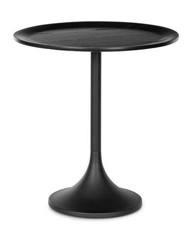 Besoa Small Visby, konferenční stolek, 48 x 52,5 cm (Ø x V), kov, multiplexová deska, dubová dýha