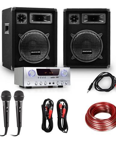 """Electronic-Star Set """"READY 2 GO"""", repro, mikrofony, zesilovač 400W"""