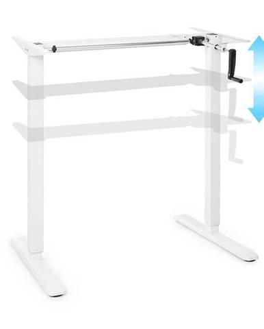 OneConcept Multidesk, výškově nastavitelný psací stůl, manuální, 73–123 cm, bílý