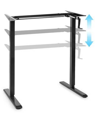 OneConcept Multidesk, výškově nastavitelný psací stůl, manuální, 73–123 cm, černý