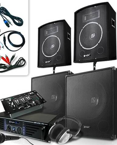 Skytec Bass Mountain USB, DJ PA systém, 2000 W, 4 x repro, zesilovač, mixážní pult