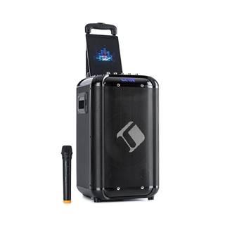 """Auna Moving 100, PA systém, 10"""" woofer, 50/150 W, UHF mikrofon, USB, SD, BT, AUX, přenosný"""