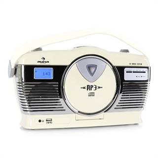 Auna RCD-70CR, retro rádio, FM, USB, CD, baterie, krémové
