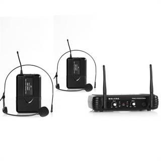 Bezdrátový mikrofonní set Malone UHF-250 Duo2, 2 kanály