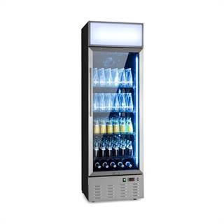 Klarstein Berghain, chladnička na nápoje, 278 l, RGB vnitřní osvětlení, 210 W, 2-8°C, ušlechtilá ocel