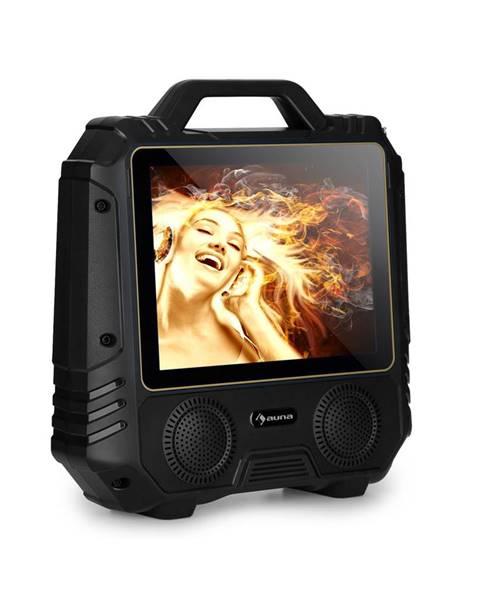"Auna Auna Centerstage 4, přenosný karaoke reproduktor, 30 W, 14.1"" displej, bezdrátový mikrofon"