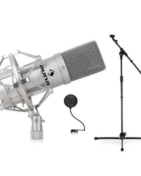 Auna Auna Mikrofonní set, stojan, mikrofon a pop filtr