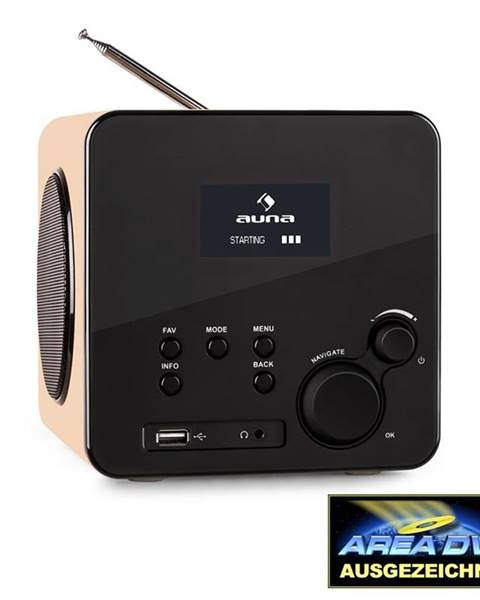 Auna Auna Radio Gaga, internetové rádio, WLAN/LAN, DAB/DAB +, FM, USB, AUX, dub
