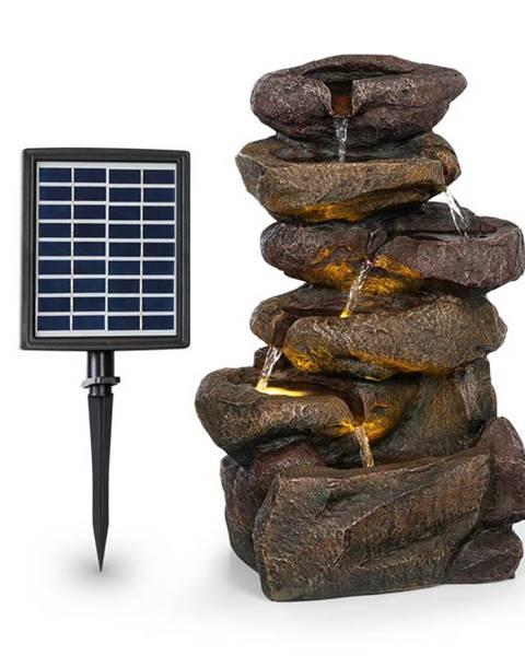 Blumfeldt Blumfeldt Savona, solární fontána, 2,8 W, polyresin, 5 hod., Akumulátor, LED osvětlení, vzhled kamene